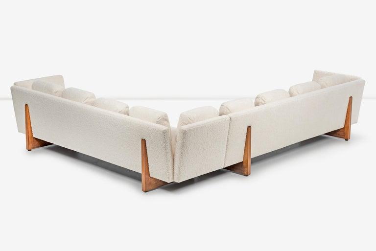 Edward Wormley for Dunbar Open-Arm Sectional Sofa For Sale 5