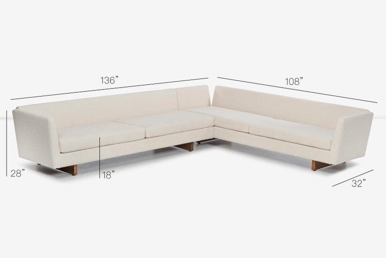 Edward Wormley for Dunbar Open-Arm Sectional Sofa For Sale 7