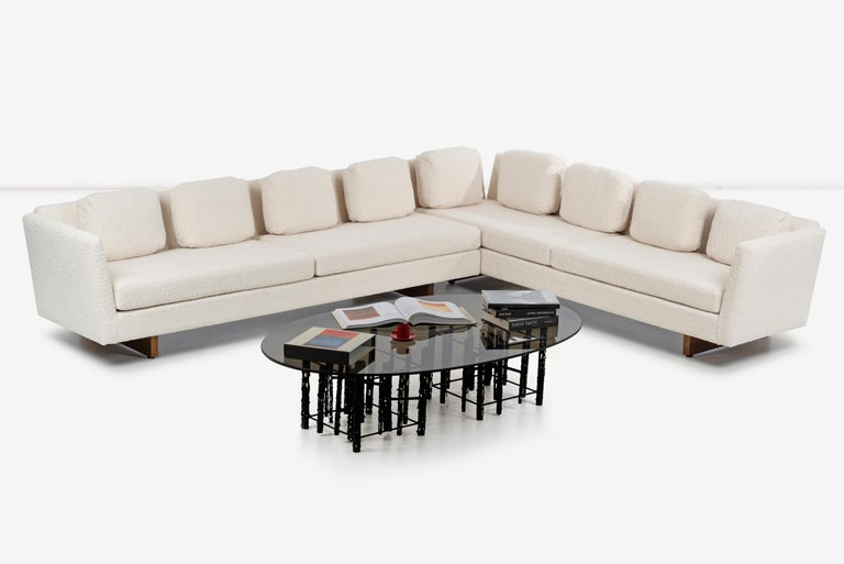 Edward Wormley for Dunbar Open-Arm Sectional Sofa For Sale 8