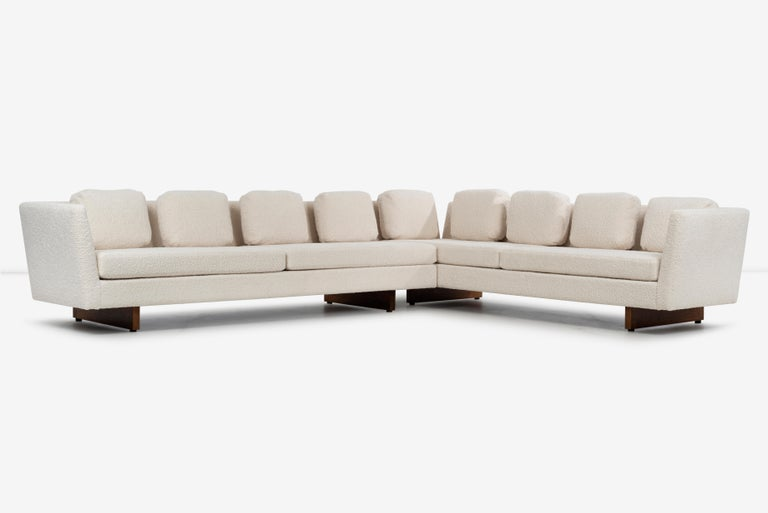 American Edward Wormley for Dunbar Open-Arm Sectional Sofa For Sale