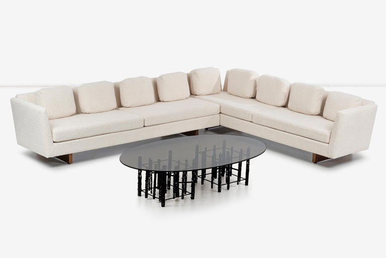 Edward Wormley for Dunbar Open-Arm Sectional Sofa In Excellent Condition For Sale In Chicago, IL