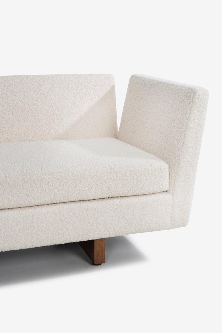 Bouclé Edward Wormley for Dunbar Open-Arm Sectional Sofa For Sale
