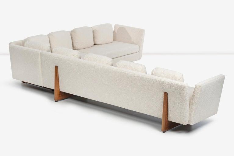 Edward Wormley for Dunbar Open-Arm Sectional Sofa For Sale 1