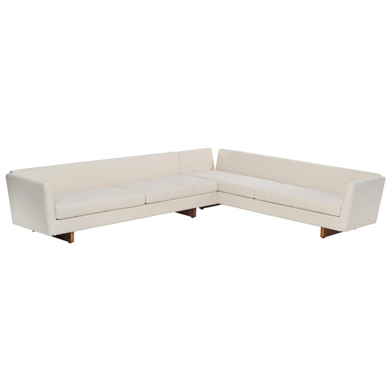 Edward Wormley for Dunbar Open-Arm Sectional Sofa For Sale