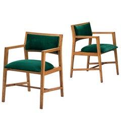 Edward Wormley for Dunbar Pair of Green Armchairs