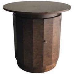 Edward Wormley for Dunbar Pedestal Table/ Bar with Key