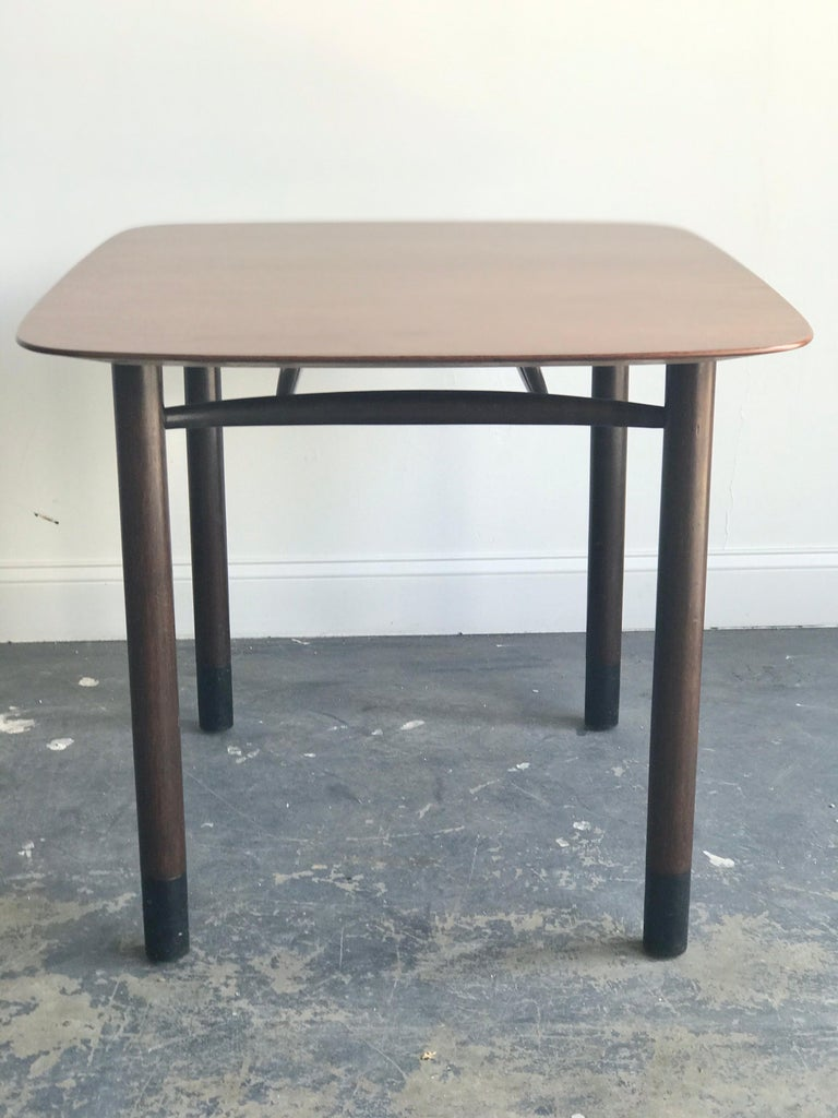 Mahogany Edward Wormley for Dunbar Petite Dining Table or Desk For Sale