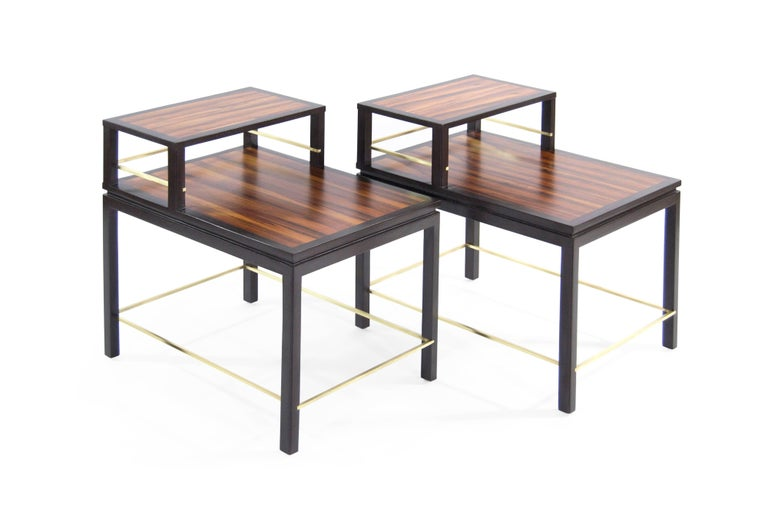Mid-Century Modern Edward Wormley for Dunbar Rosewood End Tables For Sale