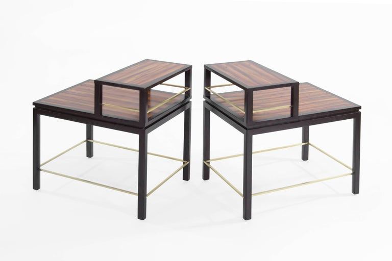 American Edward Wormley for Dunbar Rosewood End Tables For Sale
