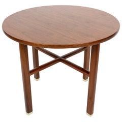 Edward Wormley for Dunbar Round Walnut Occasional Table