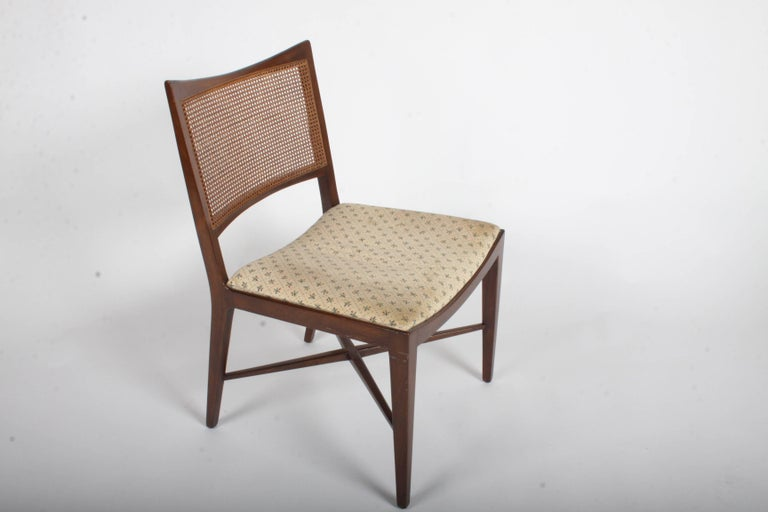 Edward Wormley for Dunbar Set of Four Caned Dining Chairs For Sale 10