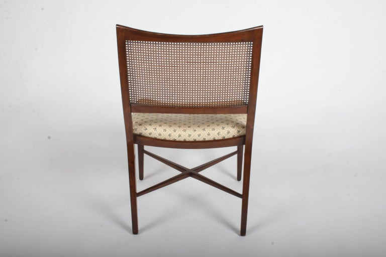 Edward Wormley for Dunbar Set of Four Caned Dining Chairs For Sale 12
