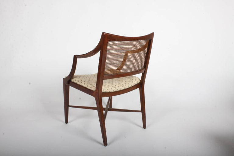 Mid-20th Century Edward Wormley for Dunbar Set of Four Caned Dining Chairs For Sale