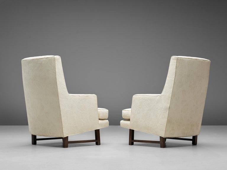 Mid-Century Modern Edward Wormley for Dunbar Set of Lounge Chairs in Original Upholstery For Sale