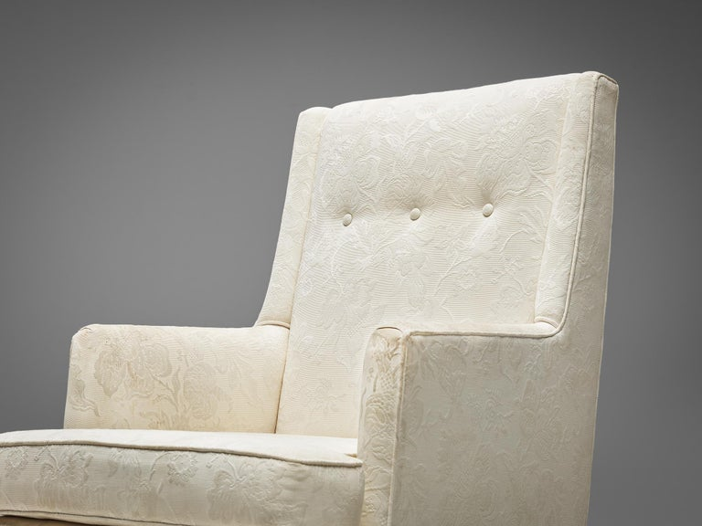 Edward Wormley for Dunbar Set of Lounge Chairs in Original Upholstery In Good Condition For Sale In Waalwijk, NL