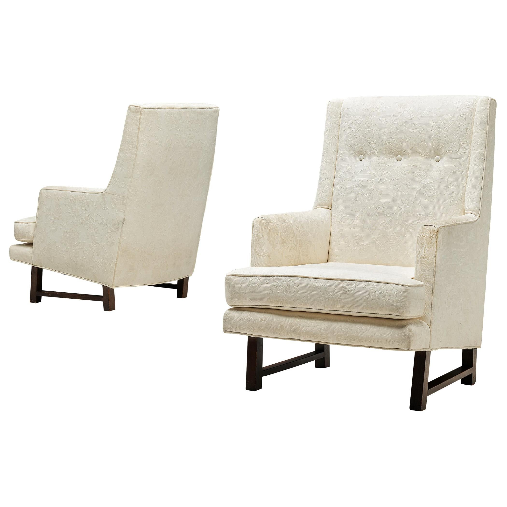 Edward Wormley for Dunbar Set of Lounge Chairs in Original Upholstery