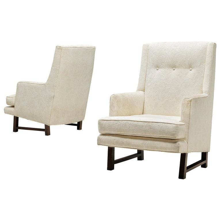Edward Wormley for Dunbar Set of Lounge Chairs in Original Upholstery For Sale