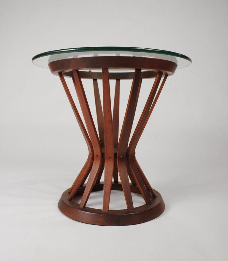 Mid-Century Modern Edward Wormley for Dunbar Sheaf of Wheat Walnut Side Table For Sale
