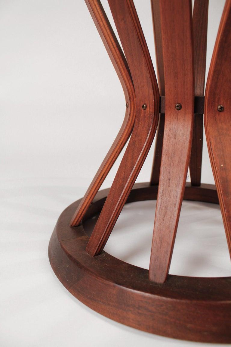 American Edward Wormley for Dunbar Sheaf of Wheat Walnut Side Table For Sale