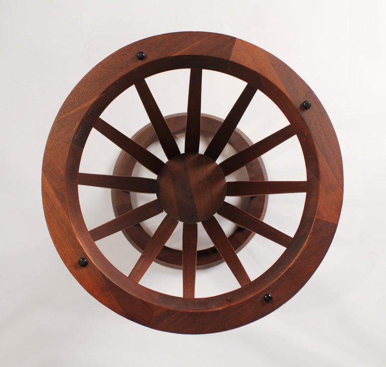 Edward Wormley for Dunbar Sheaf of Wheat Walnut Side Table In Good Condition For Sale In Dallas, TX