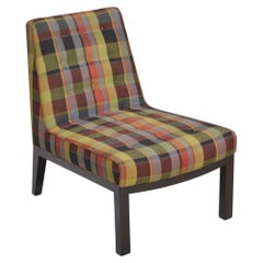 Edward Wormley for Dunbar Slipper Chair circa 1950s with Original Upholstery
