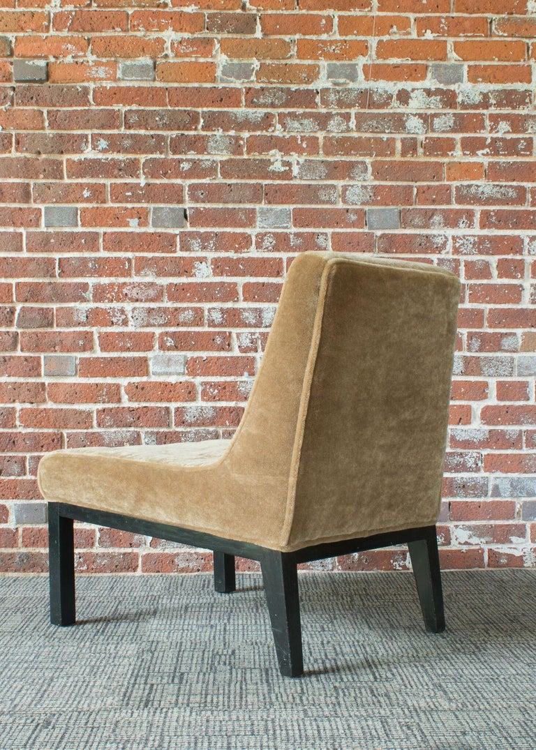 Mid-Century Modern Edward Wormley for Dunbar Slipper Chairs For Sale