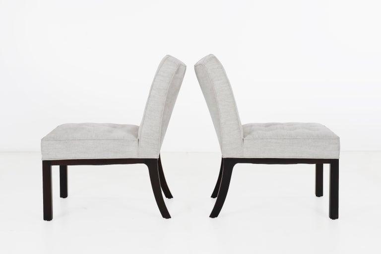 Mid-Century Modern Edward Wormley for Dunbar Slipper Chairs For Sale
