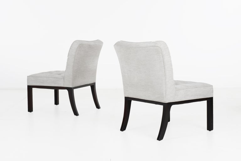 Lacquered Edward Wormley for Dunbar Slipper Chairs For Sale