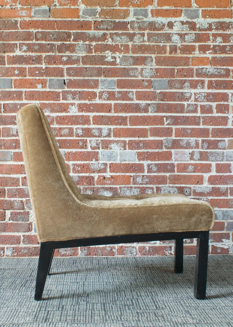 Edward Wormley for Dunbar Slipper Chairs In Good Condition For Sale In Denver, CO