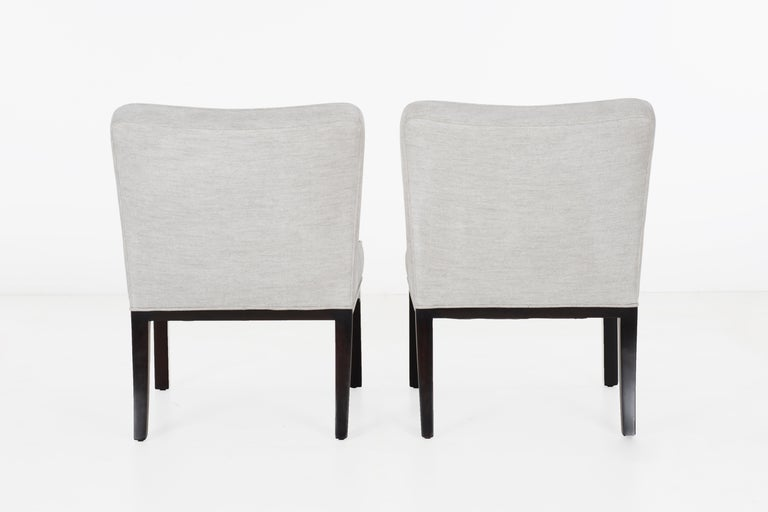Edward Wormley for Dunbar Slipper Chairs In Good Condition For Sale In Chicago, IL