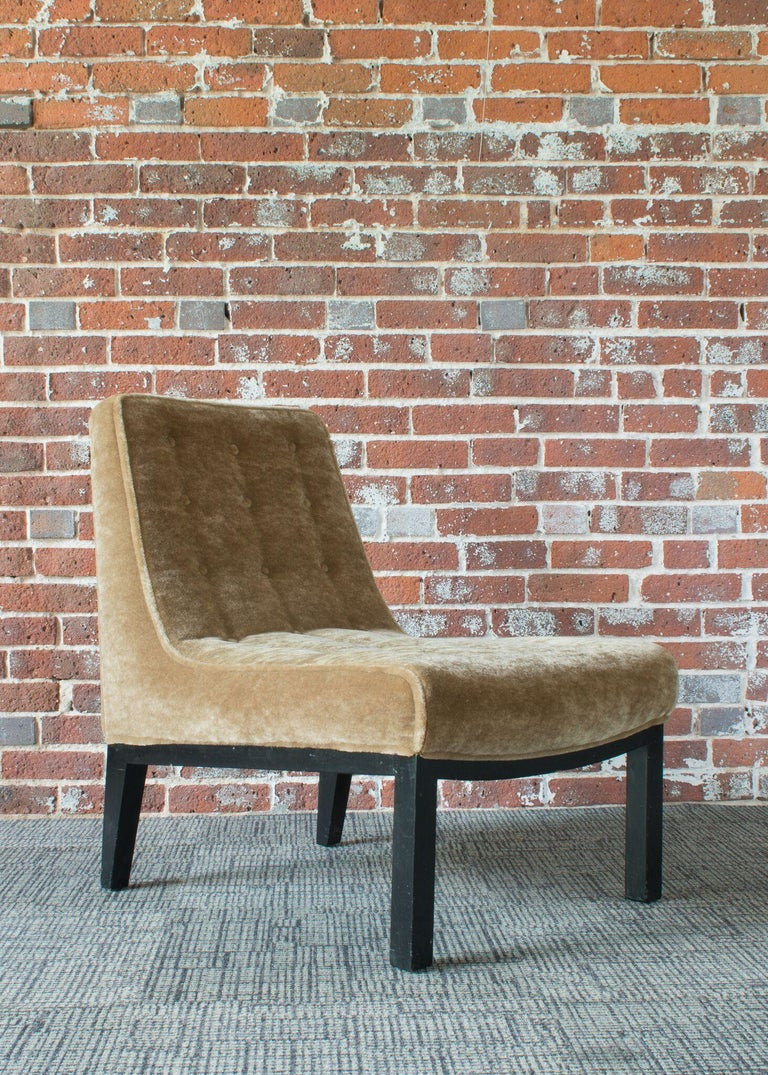 Mid-20th Century Edward Wormley for Dunbar Slipper Chairs For Sale