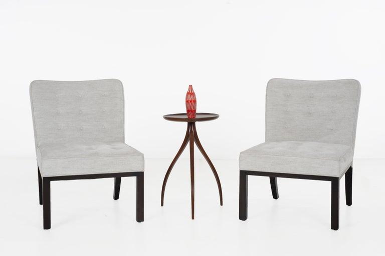 Mahogany Edward Wormley for Dunbar Slipper Chairs For Sale