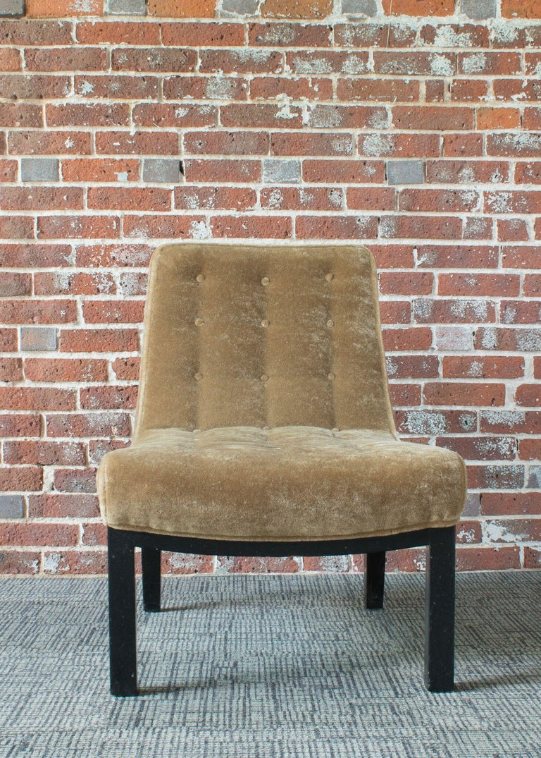 Edward Wormley for Dunbar Slipper Chairs For Sale 1