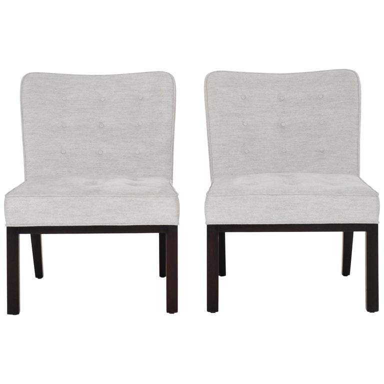 Edward Wormley for Dunbar Slipper Chairs For Sale