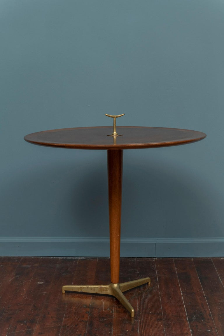Edward Wormley for Dunbar snack table, refinished a few years ago but still presents well with minor scuffs along edges.