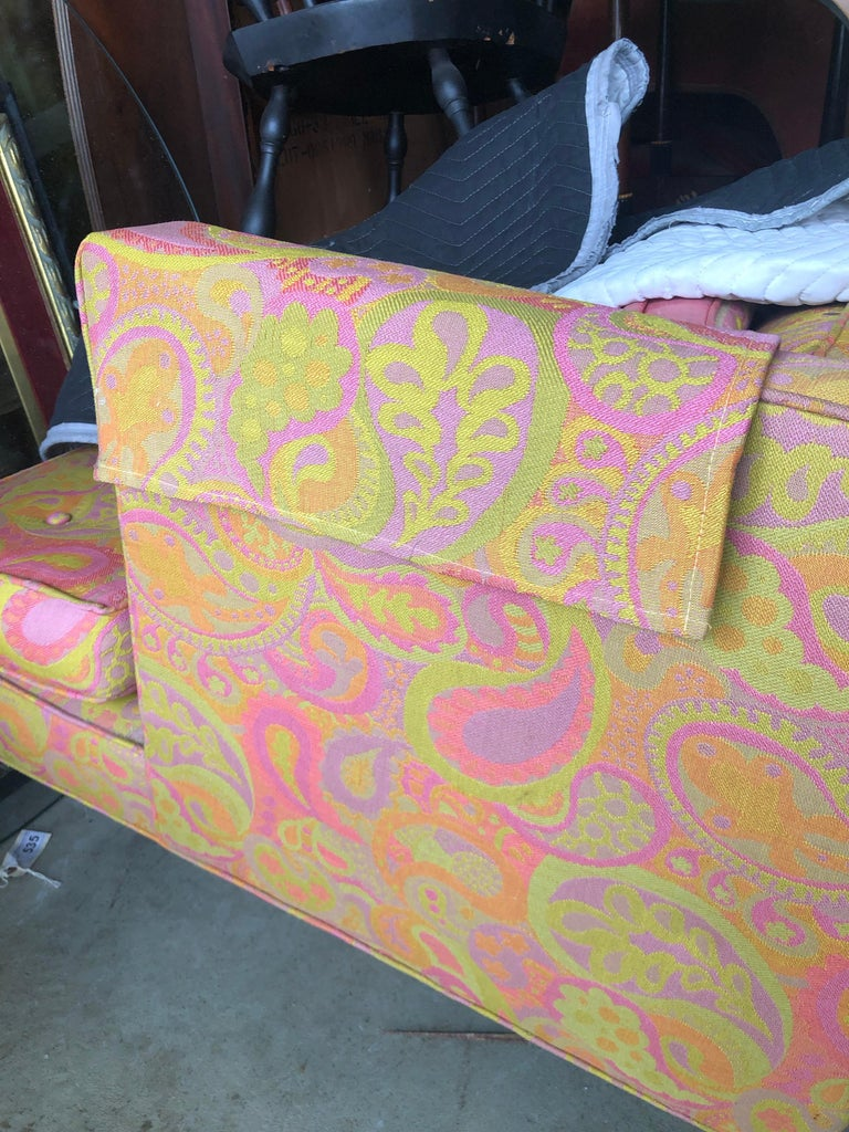 Late 20th Century Edward Wormley for Dunbar Sofa 4907 Original Pop Art Pucci Fabric For Sale