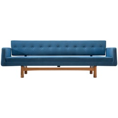 Edward Wormley for Dunbar Sofa 5316 in Blue Fabric Upholstery