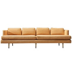 Edward Wormley for Dunbar Sofa Model 4907 in Soft Peach Upholstery
