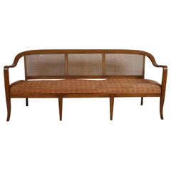 Edward Wormley for Dunbar Style Cane Bentwood Bench or Sofa