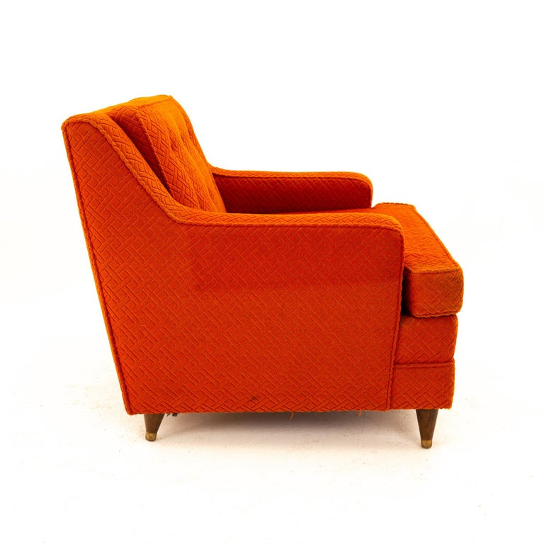 American Edward Wormley for Dunbar Style Mid Century Arm Chair For Sale