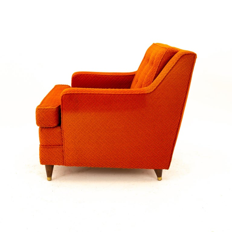 Edward Wormley for Dunbar Style Mid Century Arm Chair In Good Condition For Sale In La Grange, IL