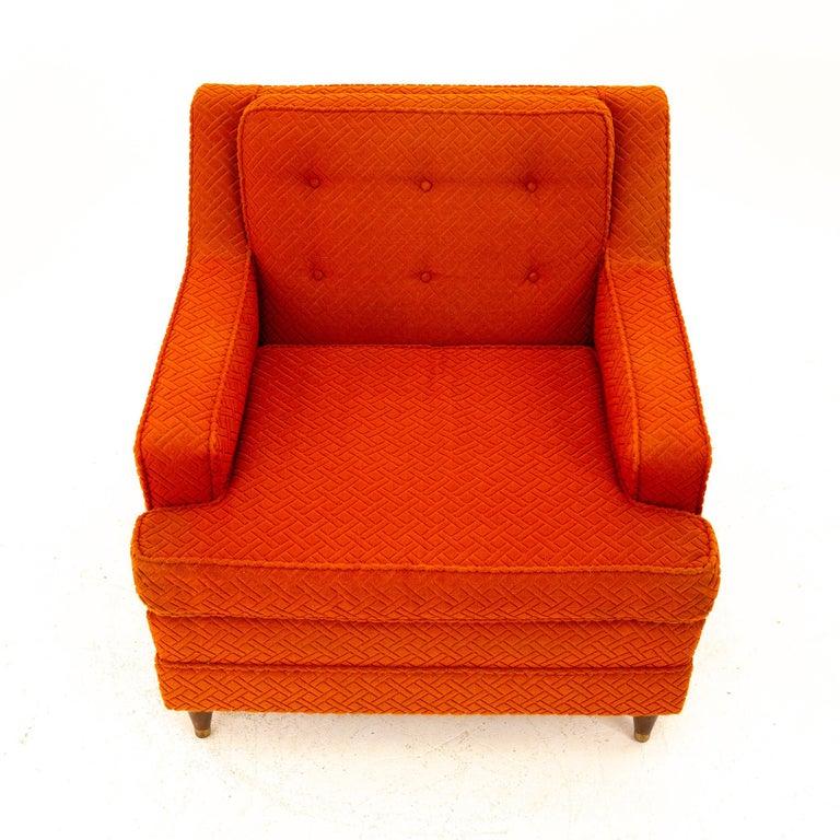 Late 20th Century Edward Wormley for Dunbar Style Mid Century Arm Chair For Sale