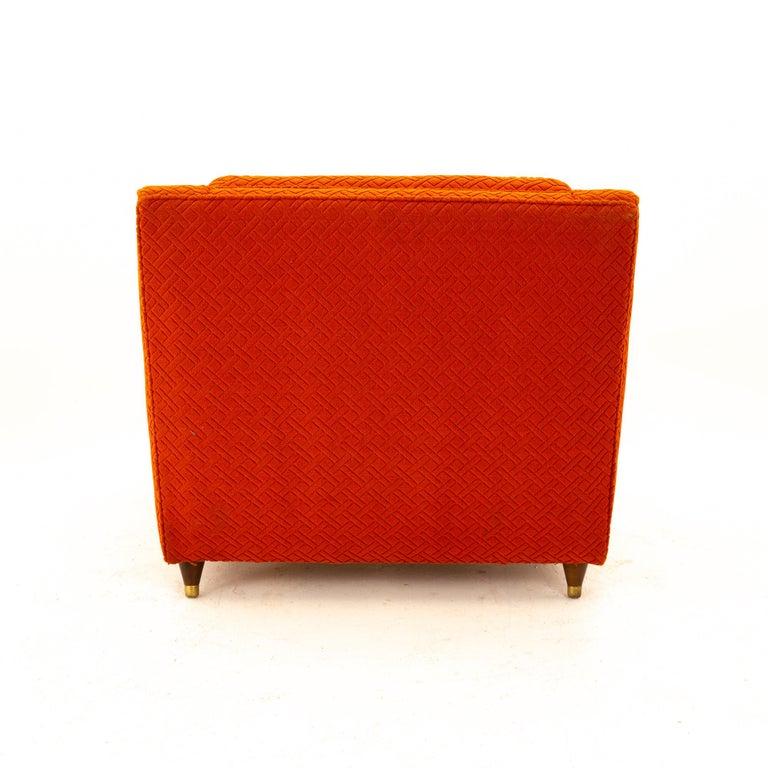 Upholstery Edward Wormley for Dunbar Style Mid Century Arm Chair For Sale