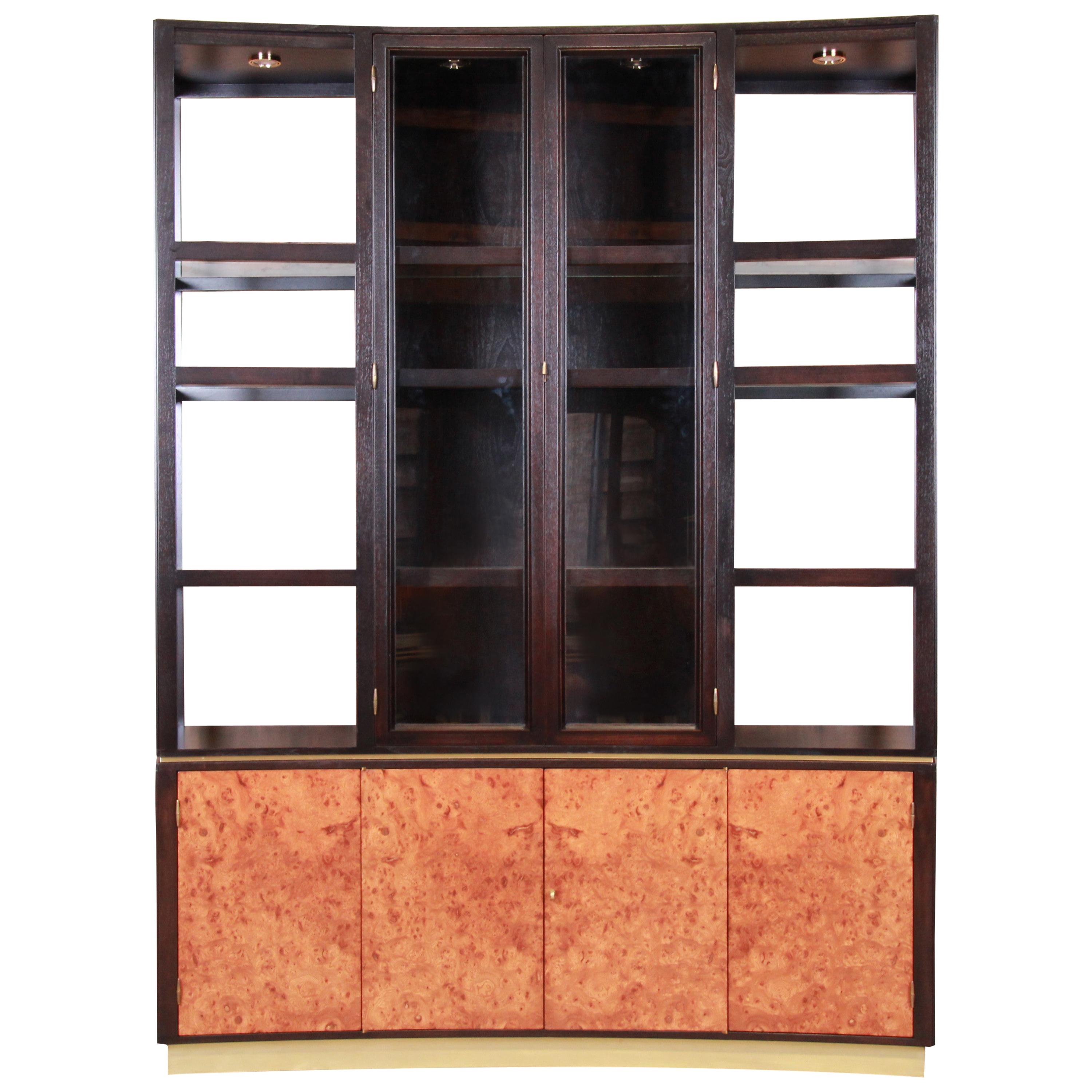Edward Wormley for Dunbar Superstructure Wall Unit or Bar Cabinet, Restored
