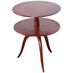 Edward Wormley for Dunbar Two-Tier Mahogany Side Table, Newly Restored