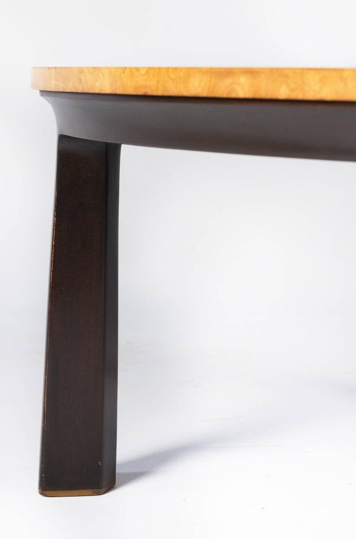 American Edward Wormley for Dunbar Walnut Burl Cocktail Table For Sale