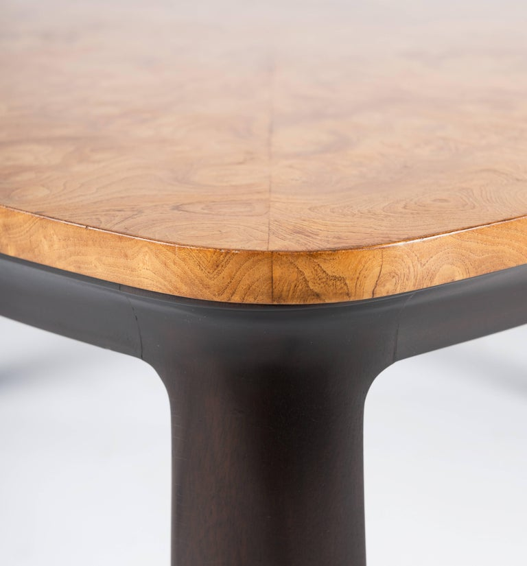 Edward Wormley for Dunbar Walnut Burl Cocktail Table In Good Condition For Sale In Pawtucket, RI