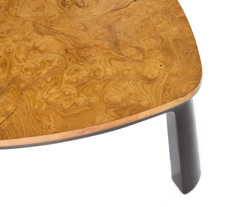 Mid-20th Century Edward Wormley for Dunbar Walnut Burl Cocktail Table For Sale