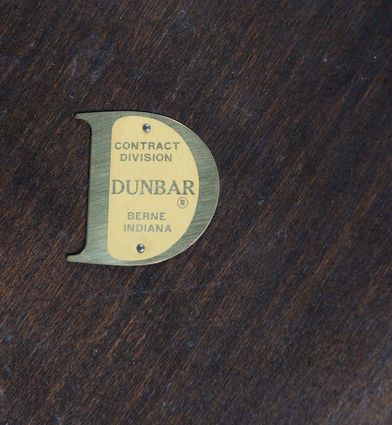 Mahogany Edward Wormley for Dunbar Walnut Burl Cocktail Table For Sale