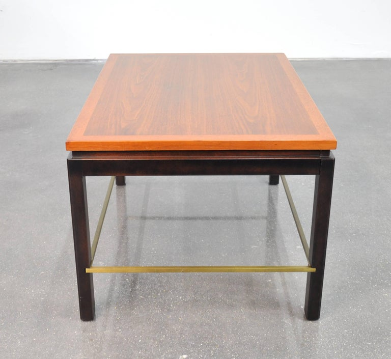 Ed Wormley for Dunbar Mahogany and Brass Side Table In Excellent Condition For Sale In Miami, FL
